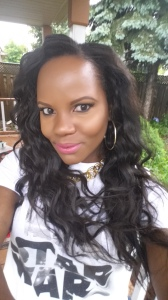 a lil color to the lips ...all my looks are pretty simple